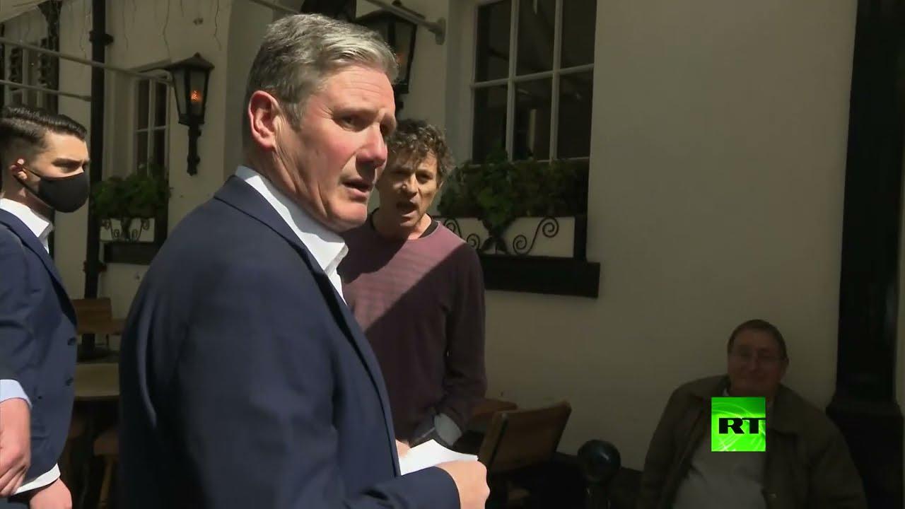 زعيم حزب العمال البريطاني يشتبك مع صاحب حانة بسبب فرض الحجر  - 00:58-2021 / 4 / 20
