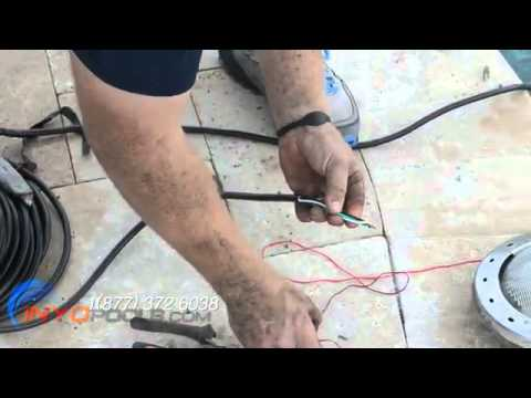 hqdefault how to replace a pool light fixture youtube 12v pool light wiring diagram at gsmx.co