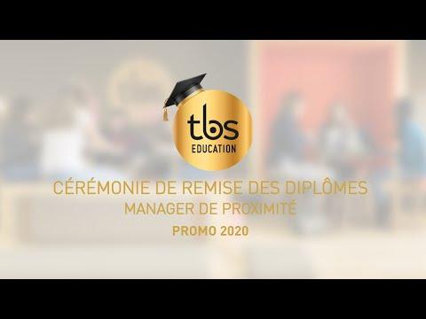 REMISE DES DIPLÔMES VIRTUELLE  MANAGER DE PROXIMITE DE TBS