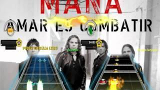 Guitar Hero Rock EN español Descargar  Mana Oye MI Amor Guitarra  Y Bateria