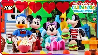 ♥ Mickey Mouse Clubhouse Donald Duck & Chip and Dale COLLECTING HEARTS from LEGO Episodes