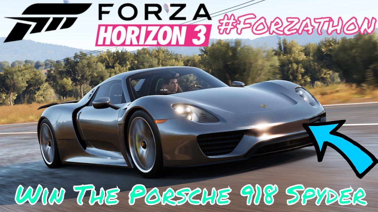 Get The Porsche 918 Spyder Forzathon