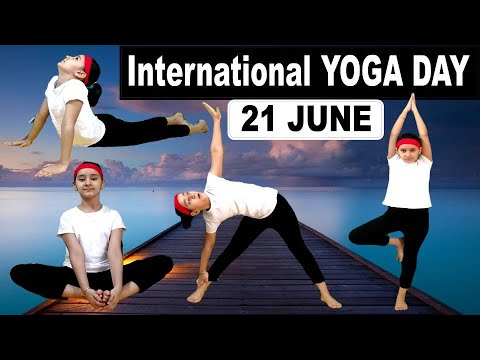 10 Best Yoga Poses for Kids || International YOGA DAY || 21 June ||
