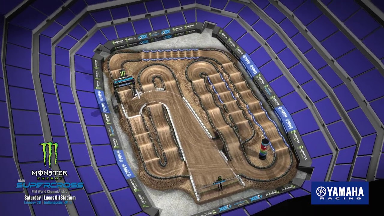 Monster Energy Supercross Track Map Rd 4 Indianapolis!