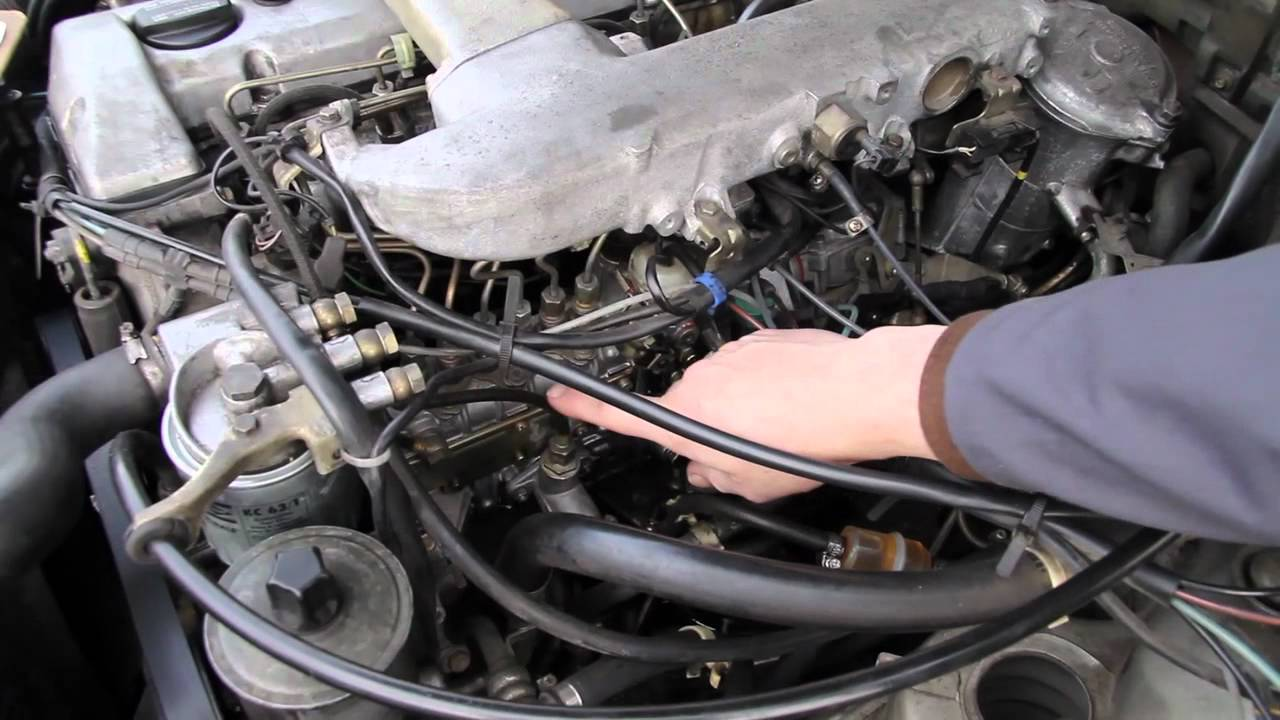 1986 to 1993 Mercedes Diesel Injection Pump Fuel Leaks: Common Problem  Easy Fix  YouTube