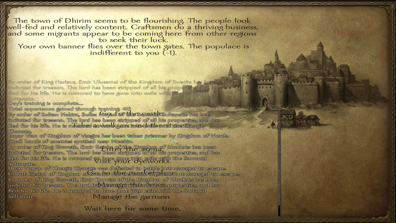 mount and blade warband town wealth