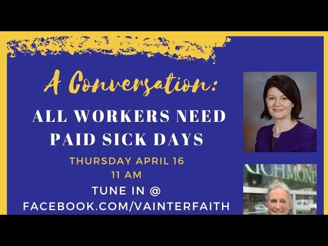 Virginia Interfaith LIVE!: All Workers Need Paid Sick Days