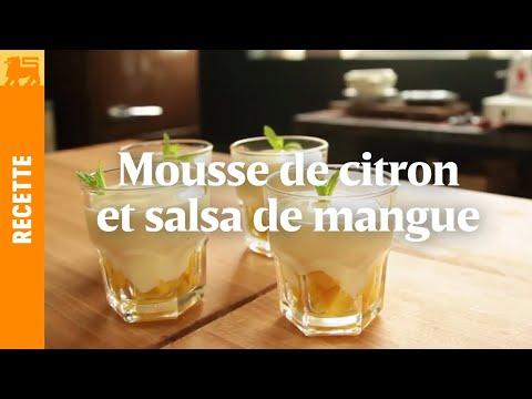 Mousse de citron et salsa de mangue