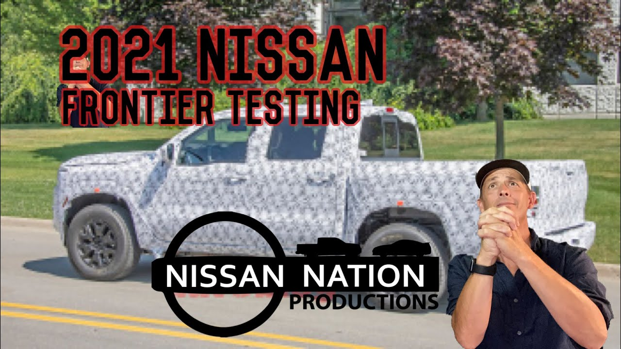 2021 Nissan Frontier testing in the open