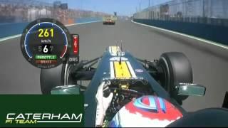 Vitaly Petrov overtake Felipe Massa at Valencia GP