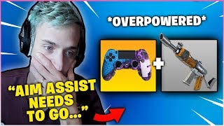 Ninja Explains Why *AIM ASSIST* Should Be REMOVED After Getting Kill By A Controller Player!