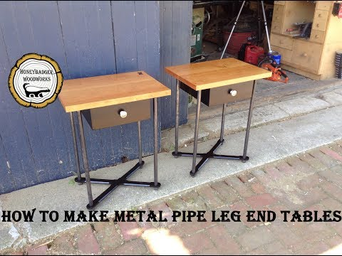 Woodworking : DIY Side Table w/Metal Legs//How To Part 1