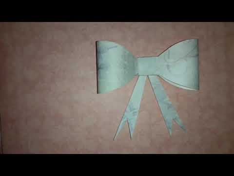 DIY paper bow/How to make paper bow easily