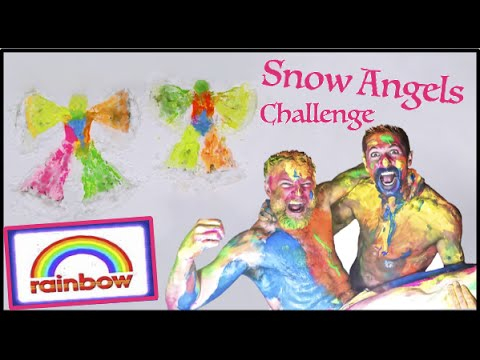 Rainbow Snow Angels (Challenge)