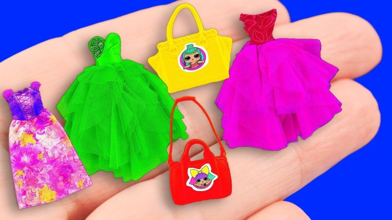 13 DIY Barbie Clothes & Boots & Purses