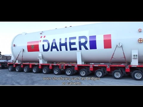 Heavy Haulage of an autoclave in Morocco by Daher