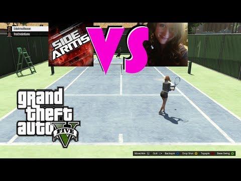 Chix Vs Sidearms Bet #2 GTA V Online Tennis