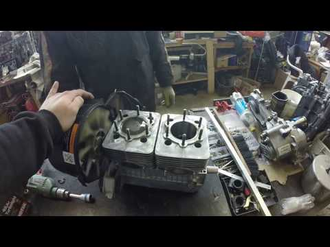 Холодная обкатка мотора снегохода Yamaha Viking 540