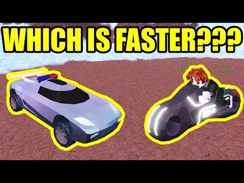 TORPEDO is the FASTEST CAR in JAILBREAK??? | Roblox Jailbreak Vehicle Speed Test