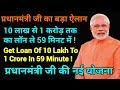 Get Loan Of 1 Crore In 59 Minute,Pradhanamntri Narendra Modi New Announcement,Get Online Loan