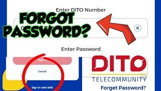 Paano mag log iฑ sa Dito App Step by Step Forgot Password