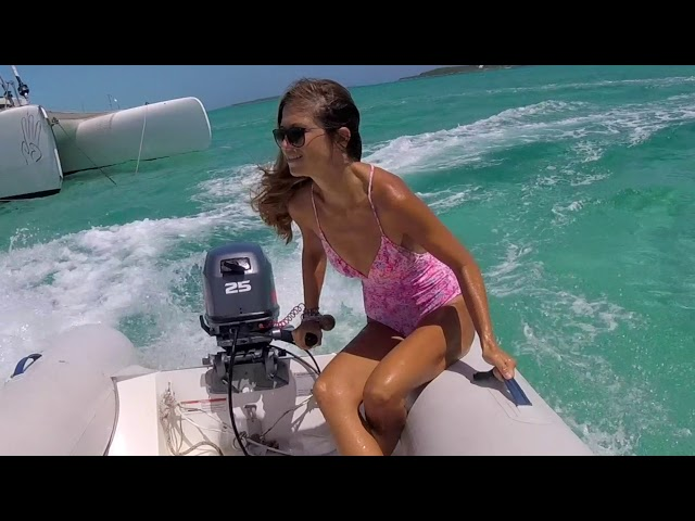 When a girl drives a dinghy // SailOceans