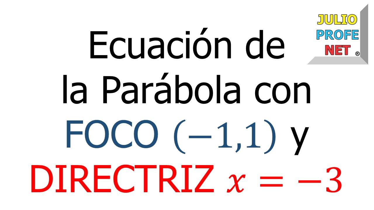 Ejercicio 3 de PARÁBOLA