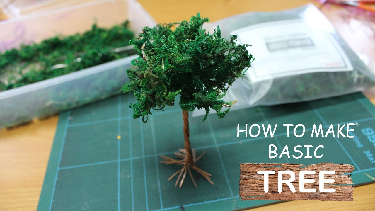 Diorama Tutorial How To Make Basic Tree Youtube