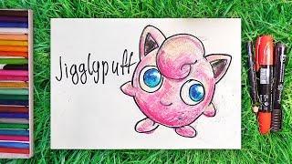 Как нарисовать Покемона Джиглипафф / How to draw Pokemon Jigglypuff / Урок рисования