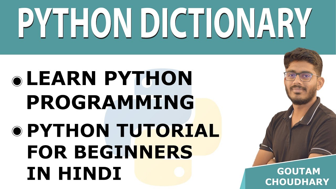Python Dictionary | Learn Python Programming | Python Tutorials for  Beginners in Hindi