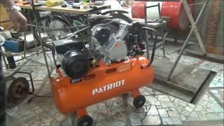 Компрессор PATRIOT PTR 80-450.двухцилиндровый компрессор