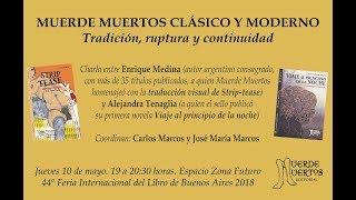 Muerde Muertos Clásico y Moderno: Enrique Medina y Alejandra Tenaglia en la 44º Feria del Libro