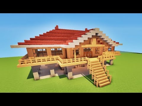 Maison de plage de luxe facile a faire tuto minecraft youtube - Faire plan maison facile ...