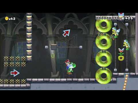 ヨッシーと一緒2 along with Yoshi 2 by ねこ ~ World Record! - Super Mario Maker - No Commentary