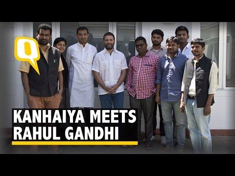 JNUSU President Kanhaiya Kumar Calls on Rahul Gandhi