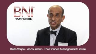 BNI Farnborough Review - Kas Verjee - Accountant