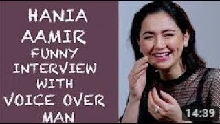 Hania Aamir very Funny interview about her personal with Voice Over Man