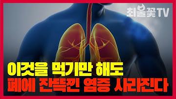 이 음식을 먹기만해도 폐에 염증이 싹 사라진다 폐에 좋은 음식