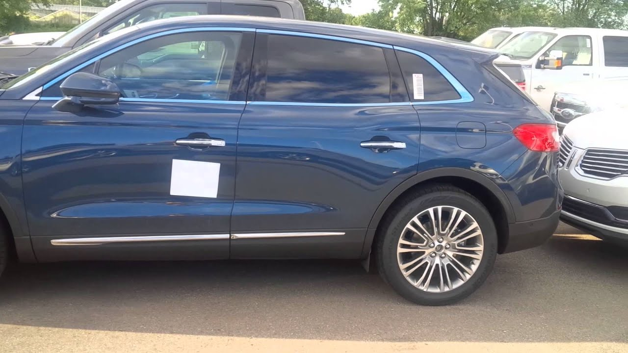 New 2016 Lincoln Mkx Color Allure Blue Metallic Is Beautiful