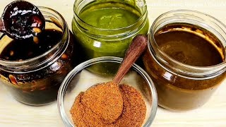 How to make Street Style 3 Secret Chat Chutney Recipes & Magic Masala Recipe for Any Chaat Recipe