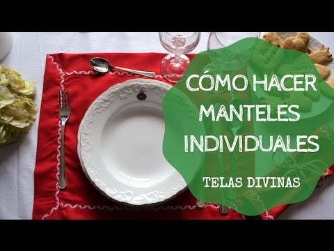 C mo hacer manteles individuales youtube - Ideas para hacer manteles ...