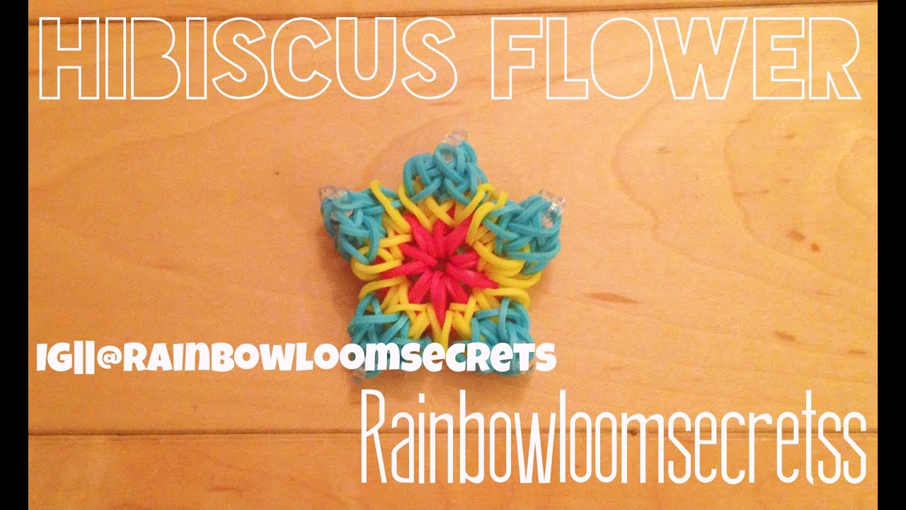 more pin bracelet com flower crowleycrafts see hibiscus facebook at rainbow loom