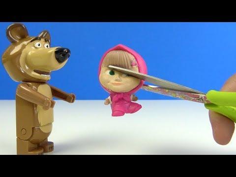 Maşa yumuşak oyuncak kesiyoruz Maşa ile Koca Ayı Mashems oyuncak kesme oyunu for