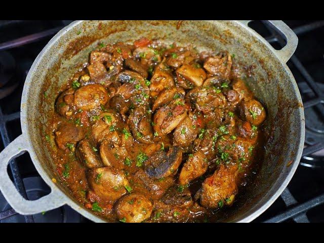Masala Mushroom #MeatFreeMonday | CaribbeanPot.com