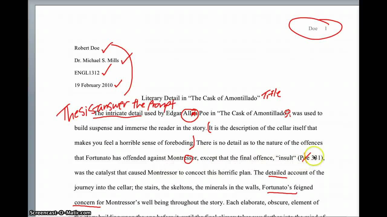 analysis essay example paper