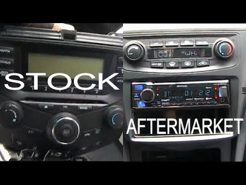 2005 Honda Accord - Aftermarket Radio Replacement Kit With Heat And AC Controls 2003 - 2007