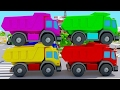 Colors DUMP TRUCK w TOW TRUCK Cartoon for Kids and Learn Numbers - Сolors for Kids & Nursery Rhymes