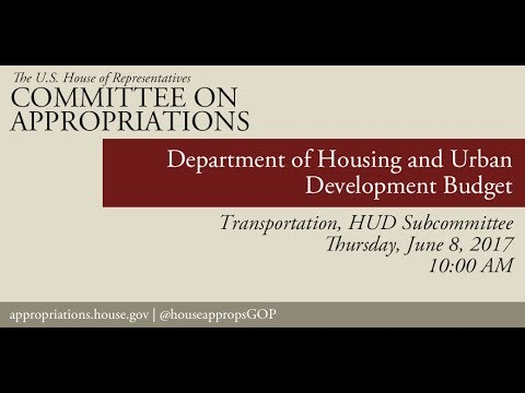 Hearing: Department of Housing and Urban Development Budget (EventID=106056)