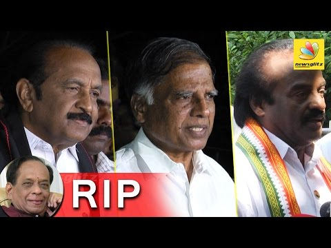 Balamuralikrishna Funeral attended by Politicians   Speech by Vaiko, G Ramakrishnan, Vasantha Kumar