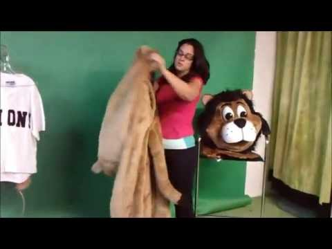 Professional stock lion mascot costume by AMAZING!! Mascots